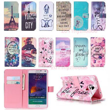 New Printed PU Flip Wallet Stand Leather Hybrid Case Cover For Mobile Phones