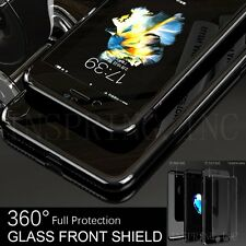 Hybrid 360° Hard Ultra thin Case Tempered Glass PC Cover For iPhone 6 6s 7 Plus