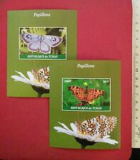 new Butterflies Papillons Stamps 2016 CHAD IMPERF Souvenir Sheet MINT MNH UKpost