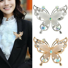 Vogue Women Butterfly Brooch Pin Crystal Rhinestone Charm Jewelry Party Gifs Hot