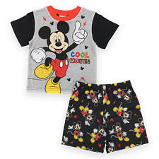 "New Disney 2 Piece Grey/Black Mickey Mouse ""Cool Moves"" Printed Top wi - Toddler"