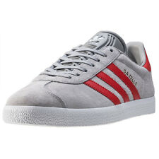 adidas Gazelle Mens Trainers Grey Red New Shoes