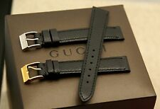 New Gucci 14 MM Lizard Pattern on Genuine Leather Watch Band - Black -  14.114