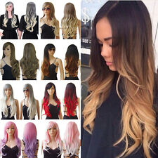 "Women Long Straight Full Wig 23"" Synthetic Heat Resistant Party Cosplay Wigs"