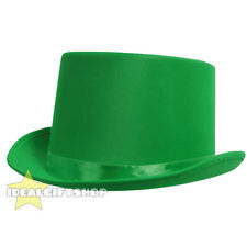 GREEN SATIN TOP HAT ST PATRICK DAY LEPRECHAUN FANCY DRESS QUALITY ACCESSORY LOT