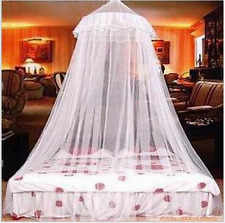 Bed Canopy Netting Curtain Dome Fly Mosquito Midges Insect Bug Stopping Net Lace