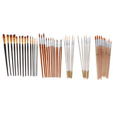 Nylon Artist Paint Brushes Watercolor Oil Painting Nail Art Supply Tool Set