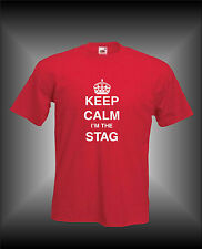 KEEP CALM I'M THE STAG - GROOM WEDDING STAG NIGHT PARTY  - MENS FUNNY T-SHIRT