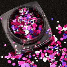 HOT Shine Metal Sparkle Mixed Sise Color Round Nail Glitter Sticker Art Decor US