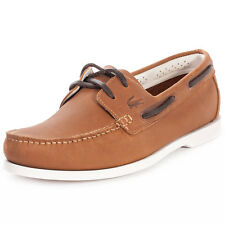 Lacoste Navire Premium Mens Boat Shoes Tan New Shoes
