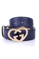 Gucci Belt % Guccissima Leather MADE IN ITALY Woman Blues 245856AA61G-4233