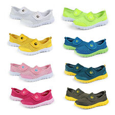 Boys Girls Slip-on Casual Athletic Sport Running Shoes Mesh Breathable Trainers