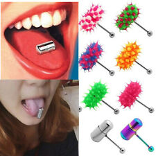 Fashion Style Vibrating Ring Tongue Bar Body Jewelry Piercing Stud New