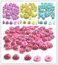 100 Pcs New fashion The lovely beetles  shape  Sewing Buttons
