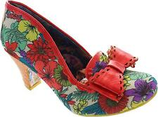 Irregular Choice Pool Lean Womens Coral/yellow/purple Tropical High Heels New