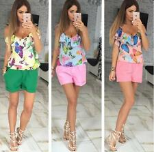 Summer New Sleeveless Women Jumpsuit Chiffon Comfort Casual  Rompers Playsuits