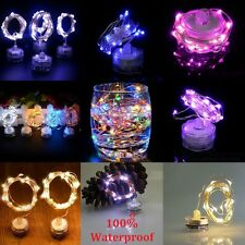 2M 20LEDs IP68 Waterproof LED Copper Wire String light  Candle Lamps Wedding