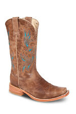 Womens Camel Cowgirl Western Leather Rodeo Boots REDHAWK 5706 Size 5-10 (B, M)