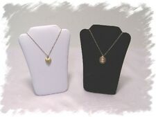 """12 Padded Necklace Display Bust Jewelry Pendant Chain Holder Stands w/ Easel 5"""""""