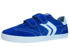 Geox J Kiwi B.M Boys Canvas and Suede Sneakers / Shoes - Blue C4304 See Sizes