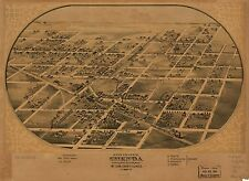 Photo Reprint Antique American Cities Towns States Map Chenoa Mclean Illinois