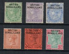 British Somaliland, 1903, 6 o/prints, 1/2 anna to 1 rupee, l.mounted mint, sg. 1
