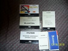 owner's manual w/other booklets for a 2001 Hyundai Elantra in usable condition