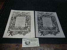 Jim Rumph Estate Shakespeare Society Thad Taylor Booklet Poster Card 1968