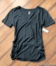 OLD NAVY MATERNITY ~ New! NWT S or M ~ Deep Green LINEN Blend Tee
