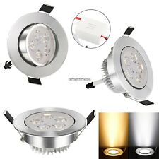 15W 85-265V Warm White Cool White Silver LED Ceiling Recessed Down Light ED01