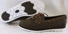NEW Mens TOMMY HILFIGER TM Dylan Brown Synthetic Leather Casual Boat Style Shoes