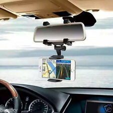 Car Rearview Mirror Mount Holder Windshield Grip Stand Cradle For Cell Phone GPS