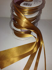 Berisfords Double Faced Satin Ribbon - OLD GOLD (20) - 3 to 50mm various lengths