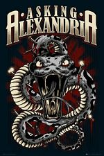 New Asking Alexandria Snake Music Poster