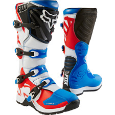 2017 Fox Racing Youth Special Edition Comp 5 Boots Blue/Red Motocross MX ATV