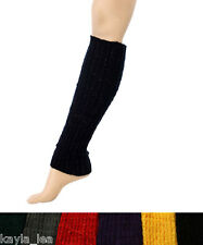 Iridescent Shimmer Acrylic Knit Leg Warmers Boot Cuff Socks 5 Colors