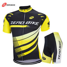 Mens Cycling Bike Short Sleeve Clothing Bicycle Sports Wear Set / Jersey/ Shorts
