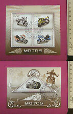MotorCycle MotorBike Stamps 2015 Congo perf 4 value Sheetlet CTO Excellent NH UK