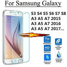 2PCS Premium 9H Tempered Glass Screen Protector Film For Samsung Galaxy Phones