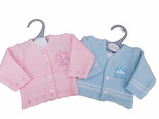 BNWT Tiny baby Premature Preemie Little prince or princess knitted cardigan