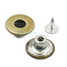 "17mm 5/8"" Look Inside Fine Jean Tack Snap Button Stud Rivet NO-SEW 10 25 50 Meta"