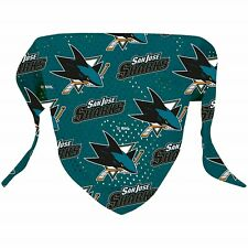 NEW SAN JOSE SHARKS DOG PET MESH HOCKEY JERSEY PATTERN BANDANA 2 SIZES LICENSED