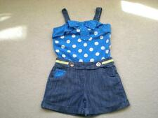 *NEXT* GIRLS ALL IN ONE/PLAYSUIT DENIM SHORTS/POLKA DOT TOP AGE 10 YEARS