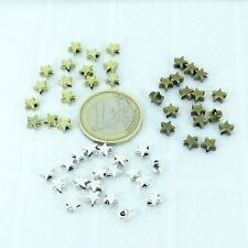 200 Beads Star 5mm To Choose Silver Tibetan/Copper/Gold coloured Spacer Beads