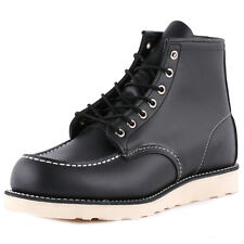 Red Wing 6-inch Moc Toe Mens Boots Black New Shoes