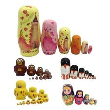 Pack 5/6/7/10 Russian Dolls Matryoshka Nesting Wooden Dolls Toy Set Hand Painted