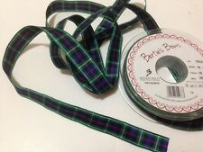 Berisfords Tartan ribbon Scottish Approved Design - 'MACKENZIE'- 7 10 16 25 40mm
