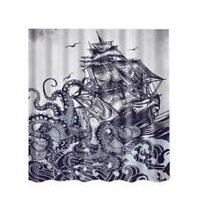 Bathroom Shower Curtains Sheer Panel Polyester Fabric Decor with 12 Hooks