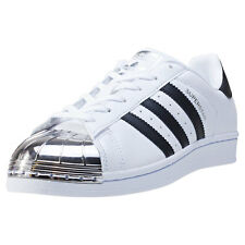 adidas Superstar Metal Toe Womens Trainers White Silver Black New Shoes