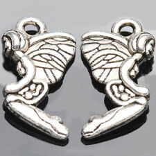 10/20Pcs Vintage Tibet Silver Angel Pendants Jewelry Findings Crafts 19*11mm